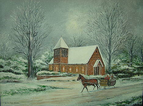 Winter At St. Mary's Chapel by Charles Roy Smith
