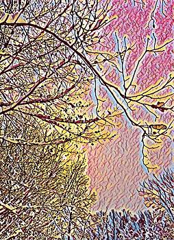 Brenda Plyer - Winter at Sundown 3
