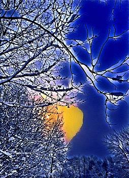 Brenda Plyer - Winter at Sundown 5 Blue and Yellow