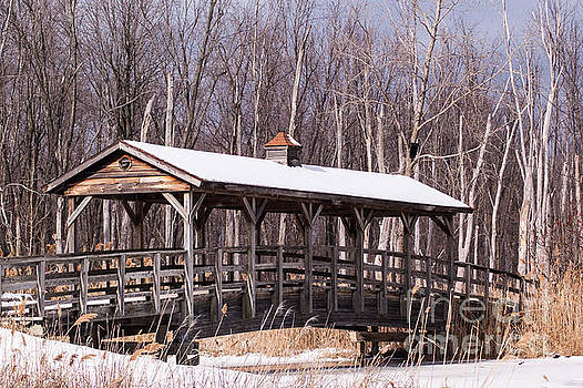 Winter at the Covered Bridge by Patrick Shupert
