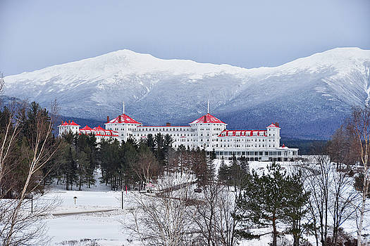 Winter at the Mt Washington Hotel by Tricia Marchlik