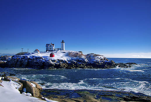 Steven Ralser - Winter at the Nubble Lighthouse - York - Maine II