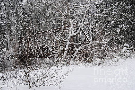 Winter at the River Horizontal by Beth Erickson