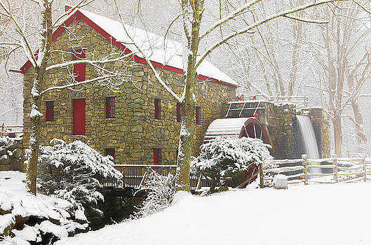 Winter at the Sudbury Grist Mill  by Juergen Roth