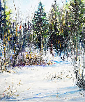 Winter At The Woods Edge by Jessica Fligg