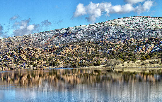 Winter at Watson lake by Ruth Jolly