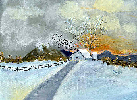 Donna Blackhall - Winter Barn