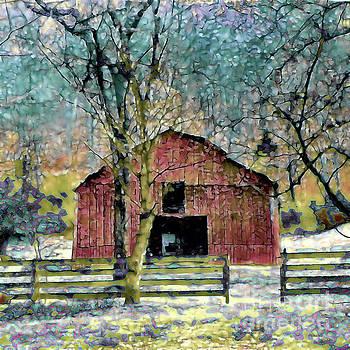Winter Barn by Shirley Moravec