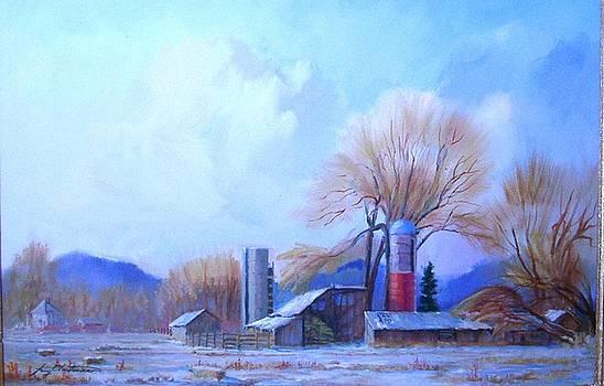 Winter Barns by Larry Christensen