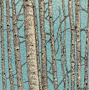 Winter Birch by Valerie Romano