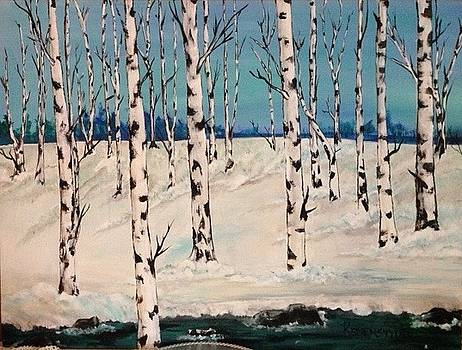 Winter Birches by Barbara Remensnyder