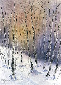Winter Birches by Diane Splinter