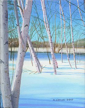 Winter Birches by Norb Lisinski