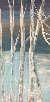 Winter Birches by Paula Brown