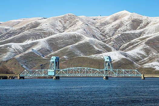 Winter Blue Sky Bridge by Brad Stinson