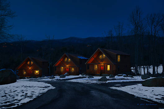 Winter Cabins by Bill