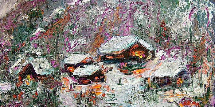 Ginette Callaway - Winter Cabins by Ginette