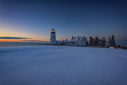 Winter Calm at Pemaquid Point by Rick Berk