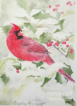 Winter Cardinal by Kristine Moore