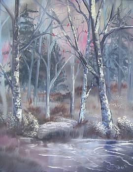 Winter Cardinals by Deleas Kilgore
