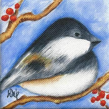 Winter Chickadee II by Deb Harvey