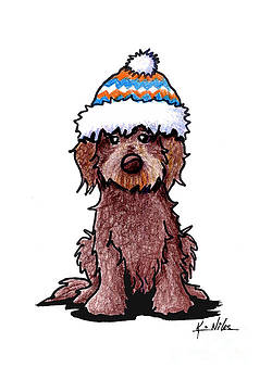 Winter Chocolate Doodle by Kim Niles