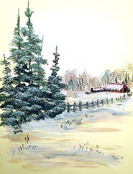 Winter comes at the Farm  by Dorothy Maier