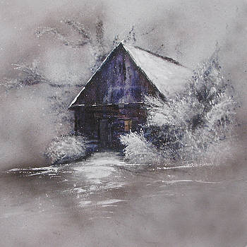 Winter Cottage by Jackie Flaten