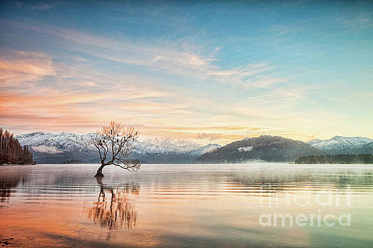 Winter Dawn, Lake Wanaka Otago NZ 2 by Colin and Linda McKie