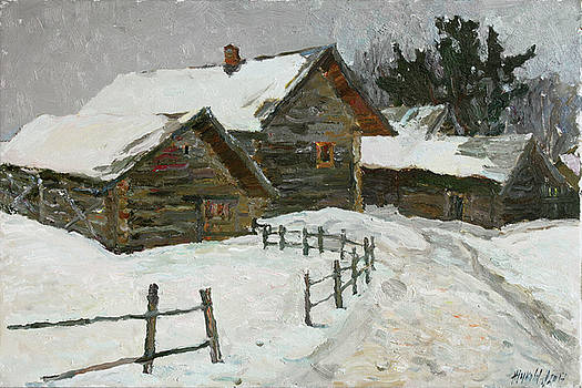Winter day in Bugrovo by Juliya Zhukova