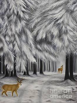 Winter Deer by Emily Young