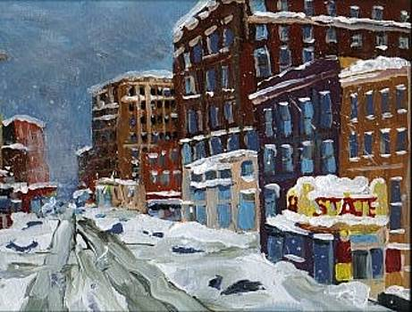 Winter Downtown by Rodger Ellingson