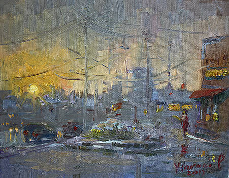 Winter End of Day by Ylli Haruni