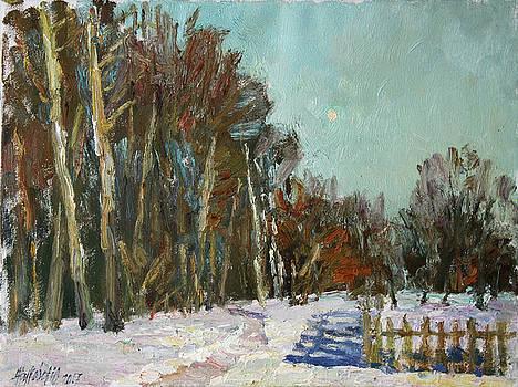 Winter etude in the Trigorskoye by Juliya Zhukova