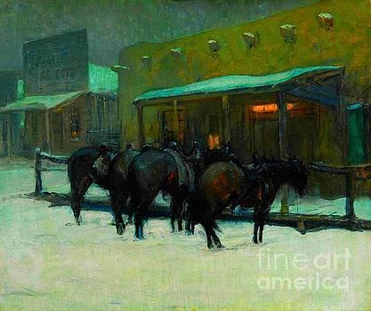 Peter Gumaer Ogden - Winter Evening in Taos 1918 Oscar Edmund Berninghaus