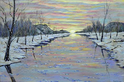 Winter Expression Sunrise by Eugene Kuperman