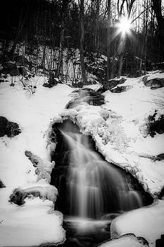 Winter Falls With Sun by Alan Raasch