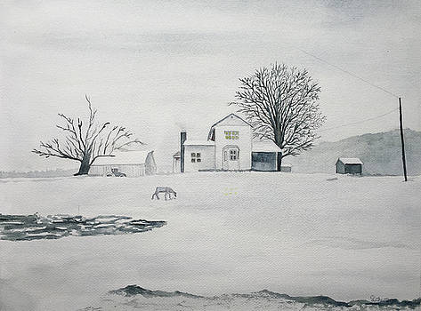 Winter Farm 2 by Christine Lathrop