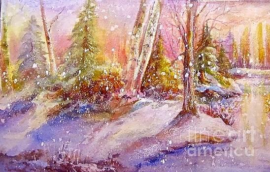 Winter Forest  by Patricia Schneider Mitchell