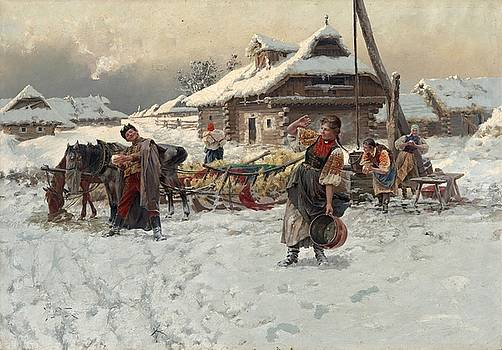 Winter games, Jaroslav Vesin 1892 by Jaroslav Vesin