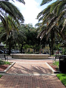 Winter Haven City Park Fountain 000 by Chris Mercer