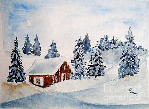 Winter hut by Christine Huwer