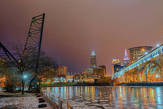 Winter in Cleveland, Ohio  by Richard Kopchock