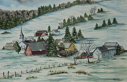 Charlotte Blanchard - Winter In East Chatham Vermont