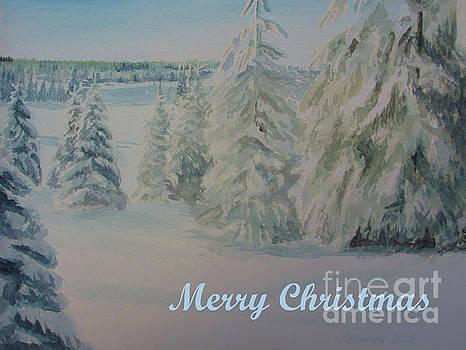 Martin Howard - Winter In Gyllbergen Merry Christmas Blue Text