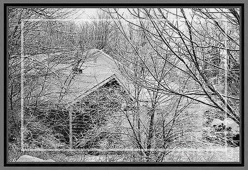 Sandra Huston - Winter In Maine, Framed