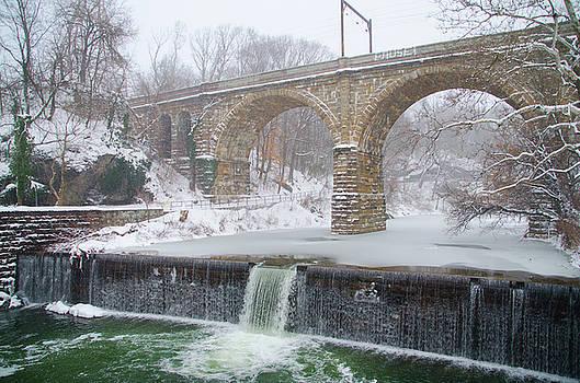 Winter in Philadelphia - Wissahickon Creek Waterfall by Bill Cannon