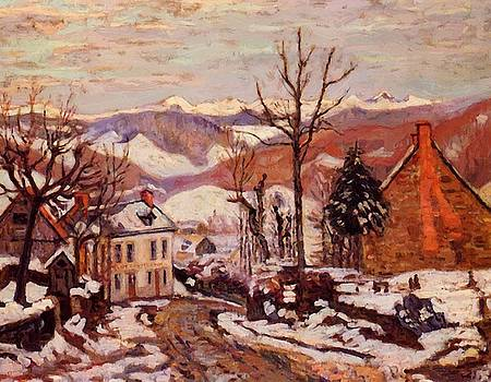 Winter In Saint Sauves Auvergne 1900 by Guillaumin Armand