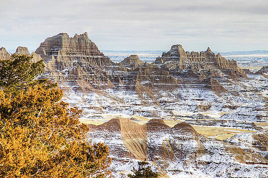 Winter in the badlands by Bill Gabbert