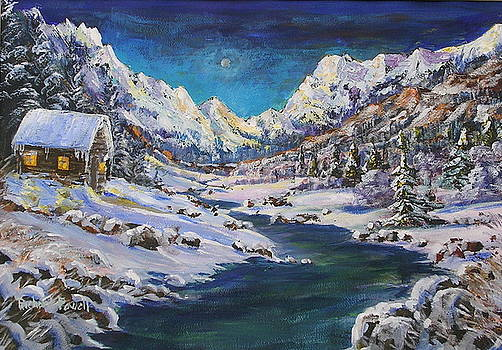 Winter in the Rockies by Richard Powell